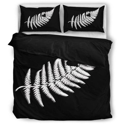 Image of Fern of New zealand bedding set - new zealand bedding set, new zealand duvet covers, new zealand fern, silver fern, new zealand silver fern, silver fern bedding set, online shopping, home set