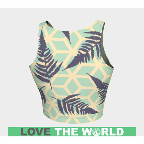Image of New Zealand Silver Fern Crop Top C1 Tops