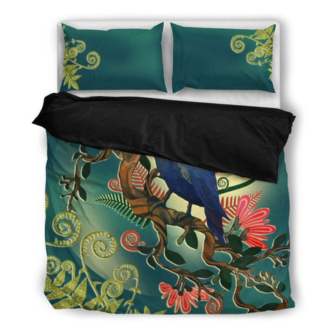 Image of New Zealand Tui Bedding Set Dn1 Bedding Set - Black Black / Twin Sets
