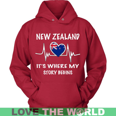 Image of New Zealand Where My Story Begins H4 Gildan Womens T-Shirt / Black S T-Shirts