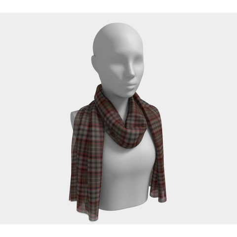 Image of Tartan Long Scarf - Nicolson Hunting Weathered - Bn |Women's Clothing| 1sttheworld