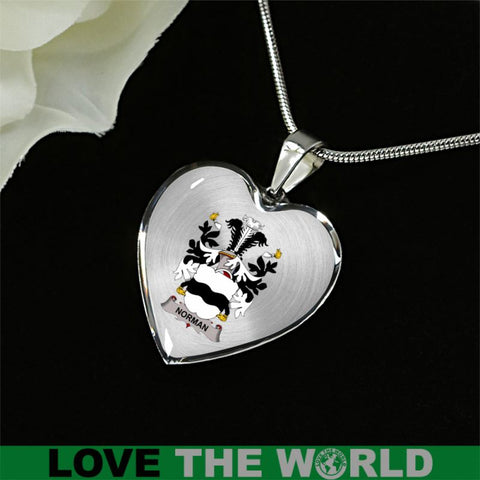 Norman Clan Badge Jewelry E7 Luxury Necklace (Silver) Jewelries