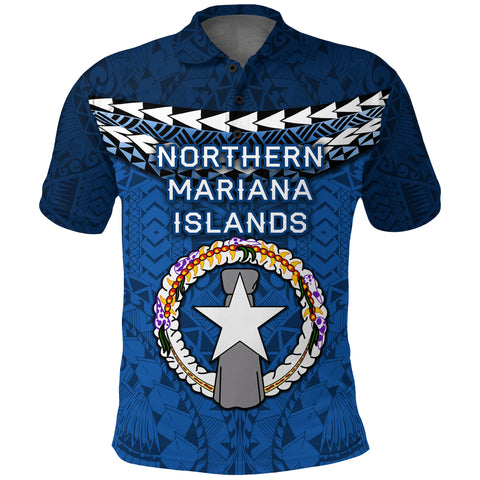 Northern Mariana Islands Polynesian Polo Shirt - Vibes Version K8