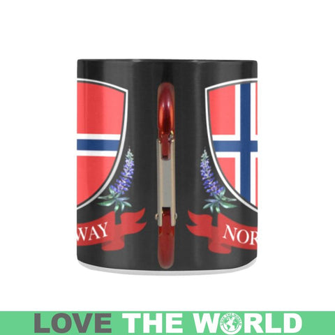 Norway Flag And Lupin Mug H1 | Love The World