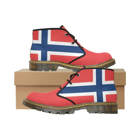 Norway Flag Chukka Boot A1 Us11 / Norway Womens Nubuck Chukka Boots/large Size (Model 2402) Nubuck