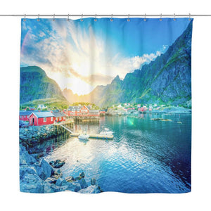 Norway Shower Curtain - D1 Nor Shower Curtains