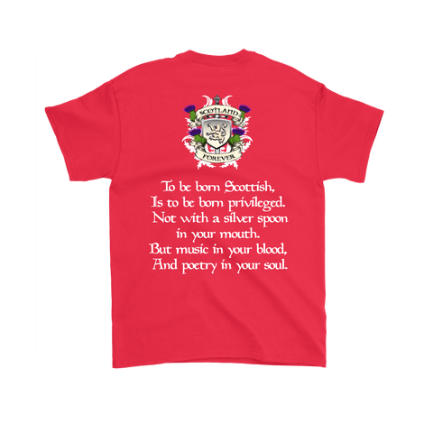 Image of Abercrombie (Or Abercromby) Tartan T-Shirt - Scottish Proverb k7