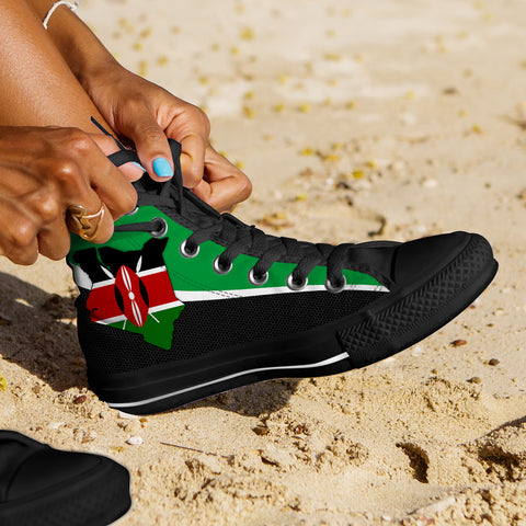 Kenya Map Special High Top Shoe A5