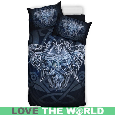 Odin Viking God, viking bedding set, viking duvet cover, viking symbols, viking man