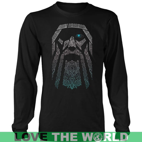 Image of Odin - Vikings Valhalla Shirt Z1 District Long Sleeve Shirt / Navy S T-Shirts