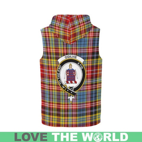 Ogilvie Of Airlie Ancient Tartan Sleeveless Zip Up Hoodies Hn S / Ogilvie Of Airlie Ancient Tartan