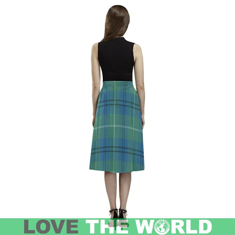 Image of Oliphant Ancient Tartan Aoede Crepe Skirt W8 Skirts