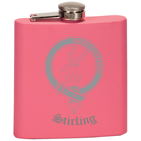 Scottish Flask - Stirling (of Cadder-Present Chief) Clan Crest | Special Custom Design