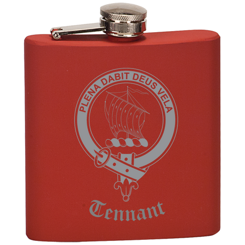 Scottish Flask - Tennant Clan Crest | Special Custom Design
