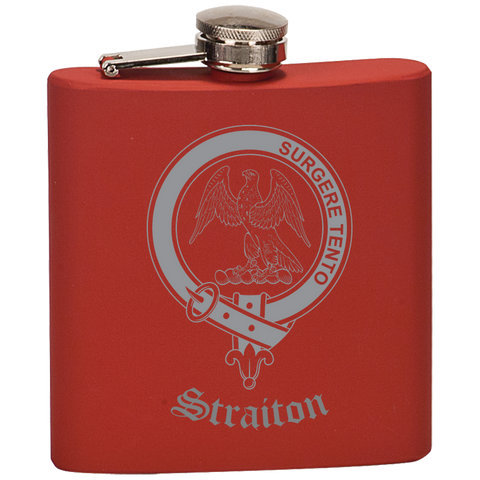 Scottish Flask - Straiton Clan Crest | Special Custom Design