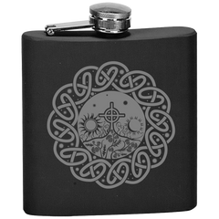 Scotland Flask - Thistle Field With Celtic Cross A6