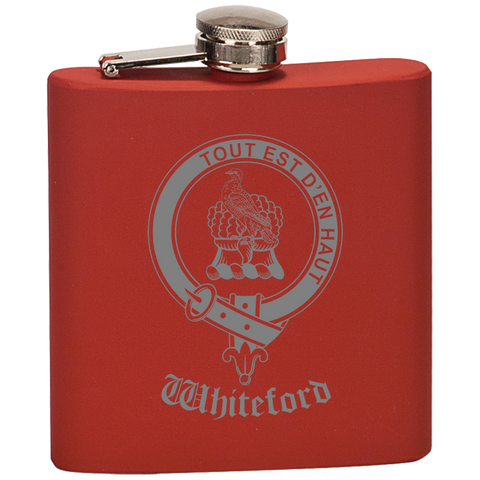 Scottish Flask - Wardlaw Clan Crest | Special Custom Design