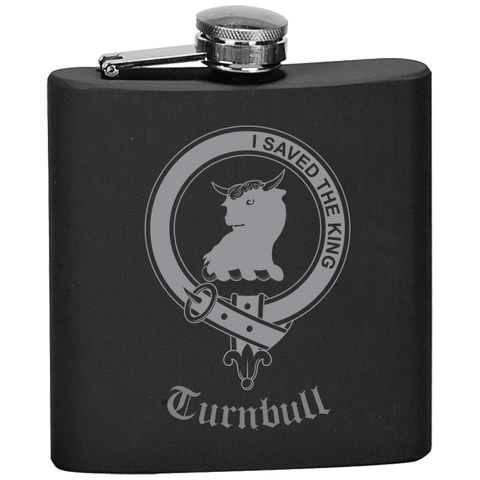 Scottish Flask - Turnbull Clan Crest | Special Custom Design