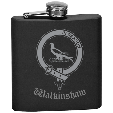 Scottish Flask - Walkinshaw Clan Crest | Special Custom Design
