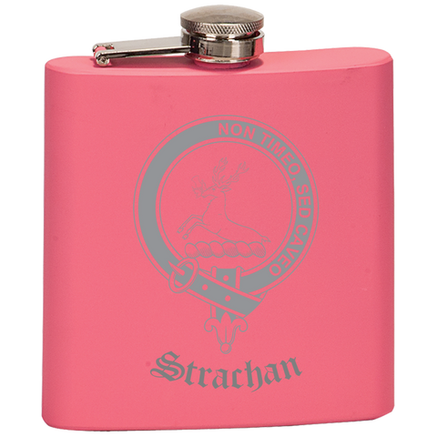 Scottish Flask - Strachan Clan Crest | Special Custom Design