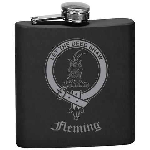 Scottish Flask - Fleming Clan Crest | Special Custom Design