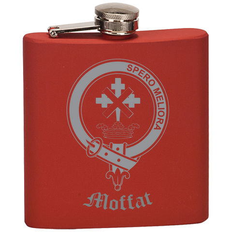 Scottish Flask - Moffat Clan Crest | Special Custom Design