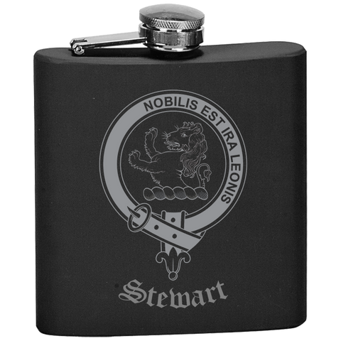 Scottish Flask - Stewart (Stuart) of Bute Clan Crest | Special Custom Design