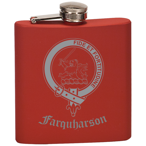 Scottish Flask - Farquharson Clan Crest | Special Custom Design
