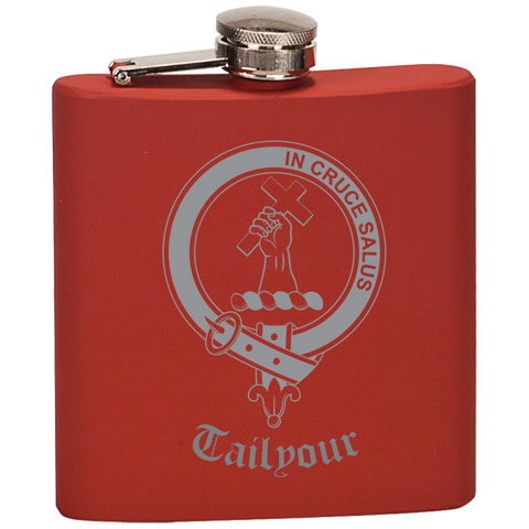 Scottish Flask - Tailyour (or Taylor) Clan Crest | Special Custom Design