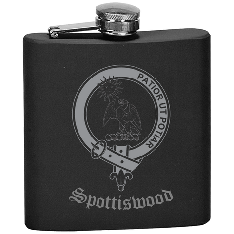 Scottish Flask - Spottiswood Clan Crest | Special Custom Design