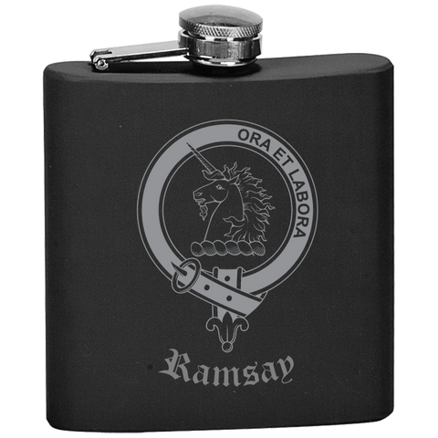 Scottish Flask - Ramsay Clan Crest | Special Custom Design