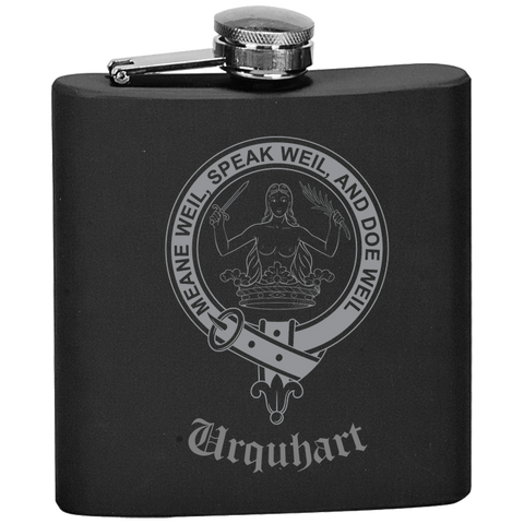 Scottish Flask - Urquhart Clan Crest | Special Custom Design