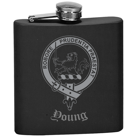 Scottish Flask - Young Clan Crest | Special Custom Design