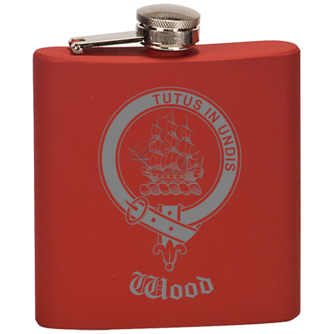 Scottish Flask - Wood Clan Crest | Special Custom Design