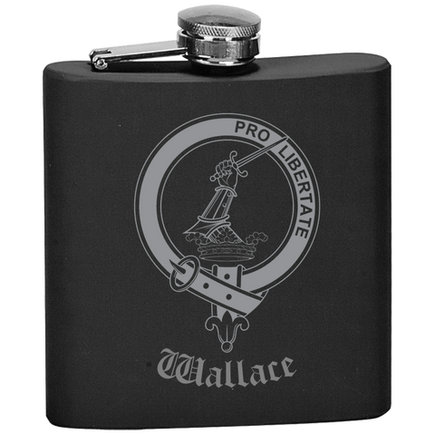Scottish Flask - Wallace Clan Crest | Special Custom Design