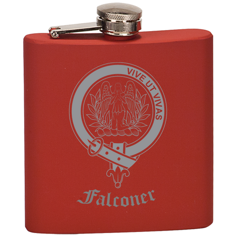Scottish Flask - Falconer Clan Crest | Special Custom Design