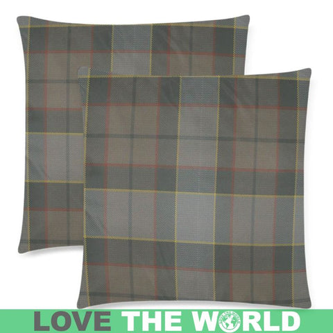 Outlander Fraser Tartan Pillow Cases Hj4 One Size / Back Custom Zippered Pillow Case 18X18(Twin