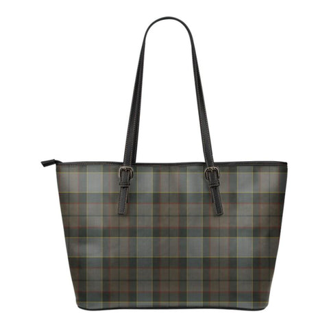 Outlander Fraser  Tartan Handbag - Tartan Small Leather Tote Bag Nn5 |Bags| Love The World
