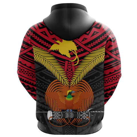 Image of Papua New Guinea Hoodie Bird of Paradise back | 1sttheworld
