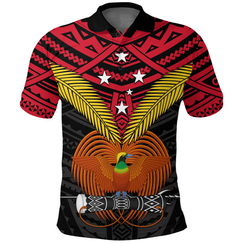 Image of Papua New Guinea Polo Shirt Bird of Paradise | 1sttheworld
