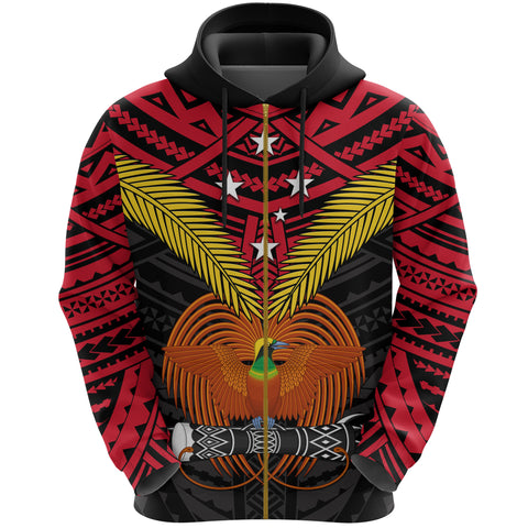 Image of Papua New Guinea Zip Up Hoodie Bird of Paradise | Clothing | 1sttheworld