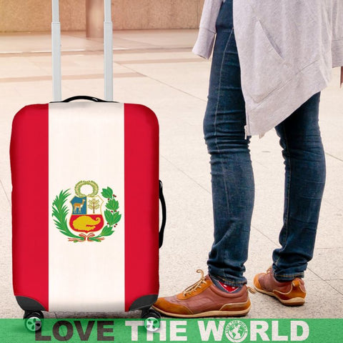 Peru Flag Luggage Cover O4 Covers