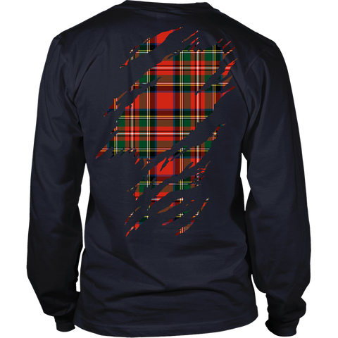 Image of Stewart Royal Tartan Shirt And Tartan Hoodie In Me