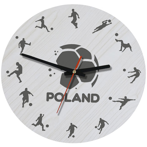 Poland Football Wooden Wall Clock J2