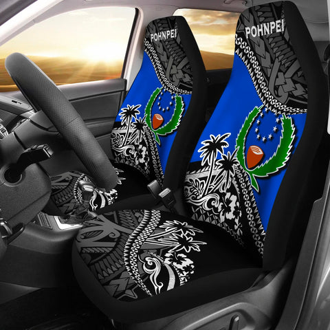 Pohnpei Car Seat Covers Fall In The Wave K9
