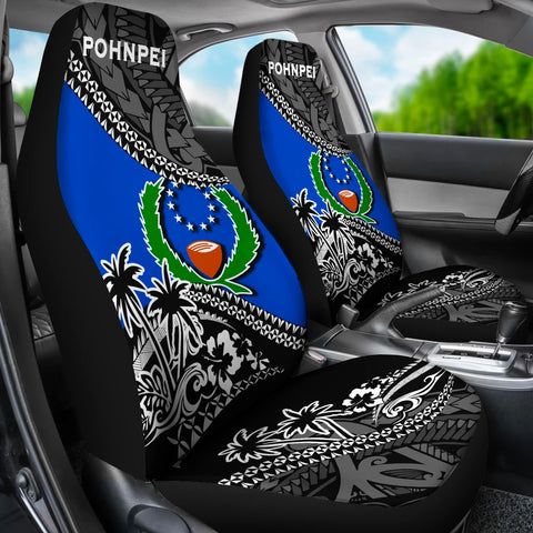 Pohnpei Car Seat Covers Fall In The Wave 3