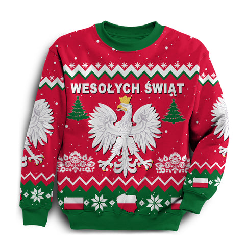 Poland Ugly Christmas Sweatshirt Eagle | Men and Women | Love The World