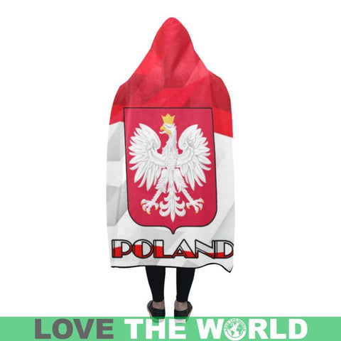Poland Flag Coat Of Arm Hooded Blanket - Tm Blankets
