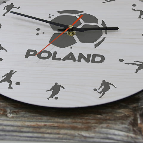 Image of Poland Football Wooden Wall Clock J2