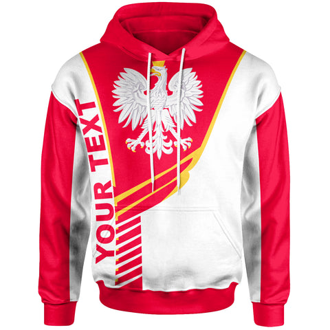 Image of Poland Custom Personalised Hoodie - Modern Style - BN20